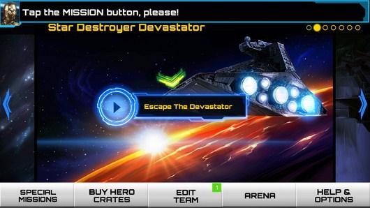Миссии - Star Wars: Assault Team для Android