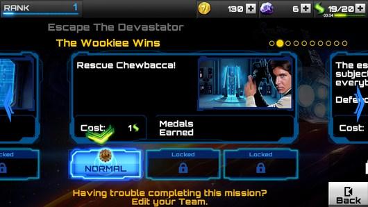 Задача - Star Wars: Assault Team для Android