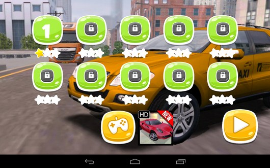 Уровни - TAXI PARKING HD для Android