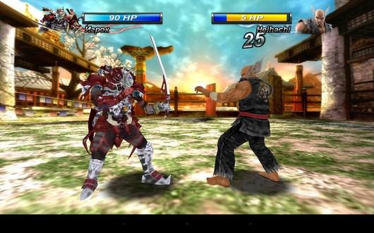 Удар по сопернику - Tekken Card Tournament для Android