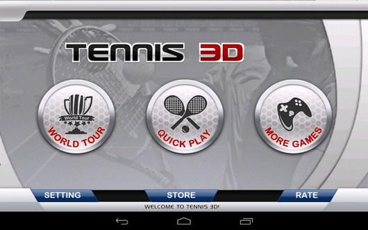 Трехмерный теннис Tennis 3D для Android