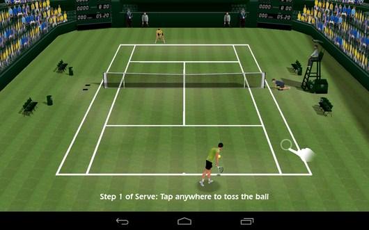 Обучение - Tennis 3D для Android