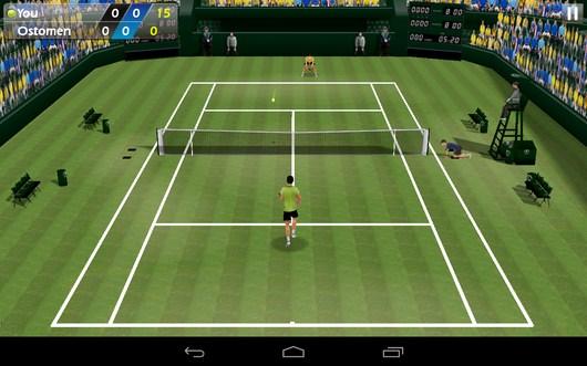 Процесс игры - Tennis 3D для Android