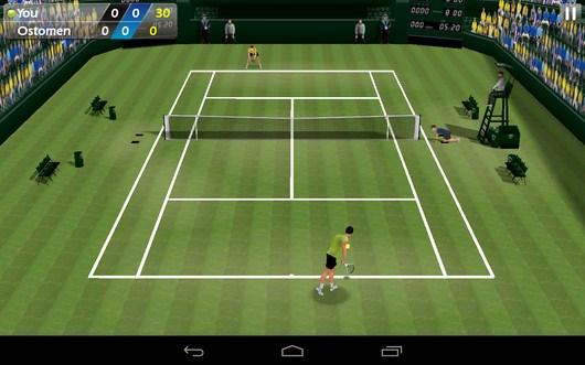 Новая подача - Tennis 3D для Android