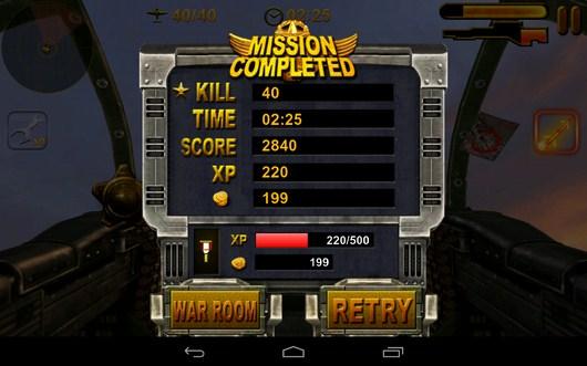 Результаты уровня - Turret Commander для Android
