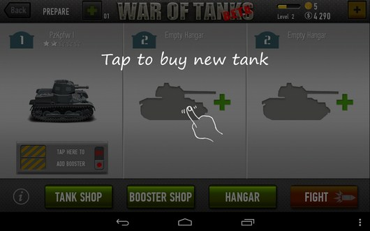 Новый танк - War of Tanks для Android