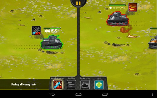 Один враг подбит - War of Tanks для Android