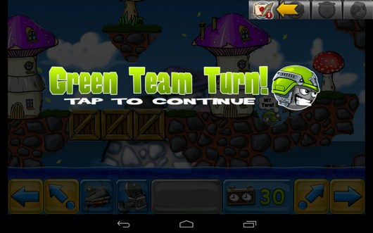 Переход управления - Warlings: Battle Worms для Android