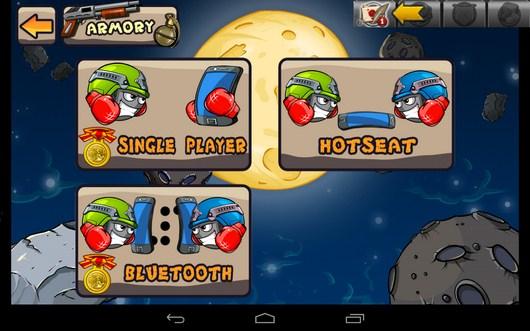 Выбор режима игры - Warlings: Battle Worms для Android