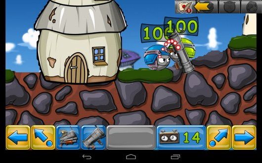 Атака противника - Warlings: Battle Worms для Android