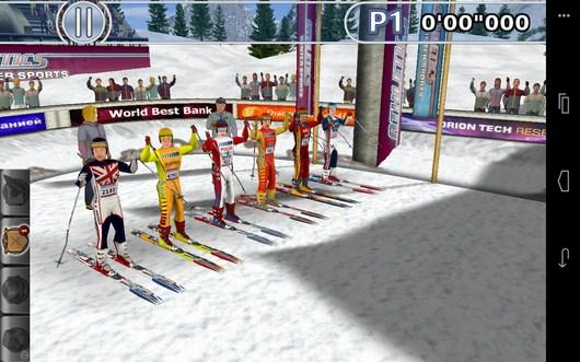 Начало заезда по биатлону - Winter Sports для Android