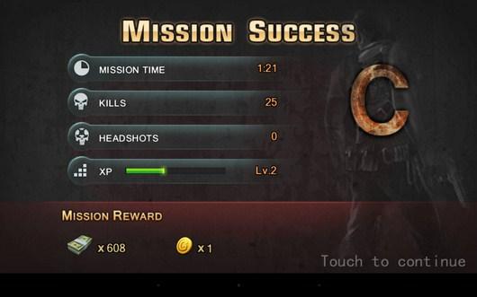Результаты уровня - Zombie Assault Sniper для Android
