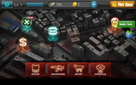 Карта города - Zombie Assault Sniper для Android