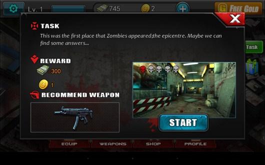 Задание уровня - Zombie Assault Sniper для Android