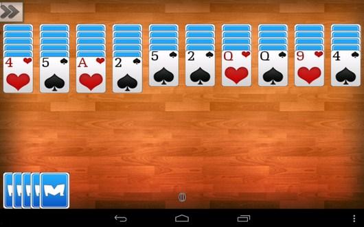 Средняя сложность - Пасьянс Паук для Android