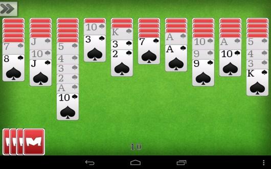 Новая игра - Пасьянс Паук для Android