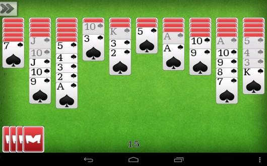 Игровой процесс - Пасьянс Паук для Android