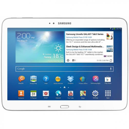 Samsung Galaxy Tab 3 в белом цвете