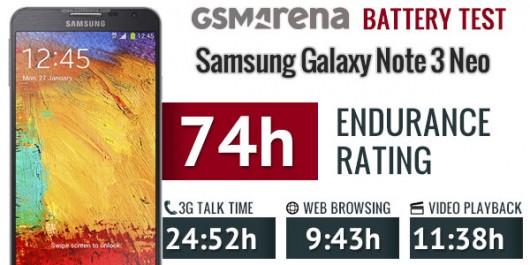 результаты тестирования батареи Samsung Galaxy Note 3 Neo