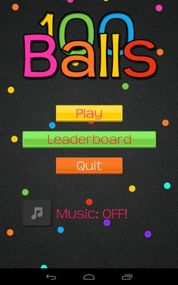 Интересная игра 100 Balls+ для Android