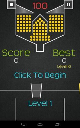 начало игры - 100 Balls+ для Android