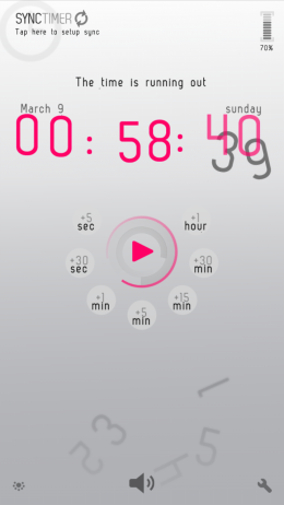 Интерфейс - SyncTimer для Android