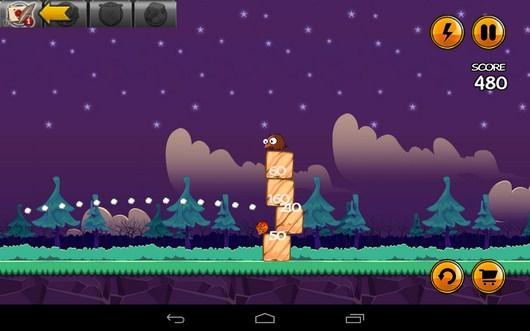 Попадание в постройку - Angry Cats для Android