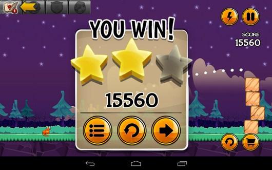 Результат уровня - Angry Cats для Android