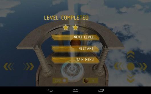 Меню игры Balance 3D для Android