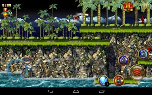 Убийство врагов - CONTRA: EVOLUTION для Android