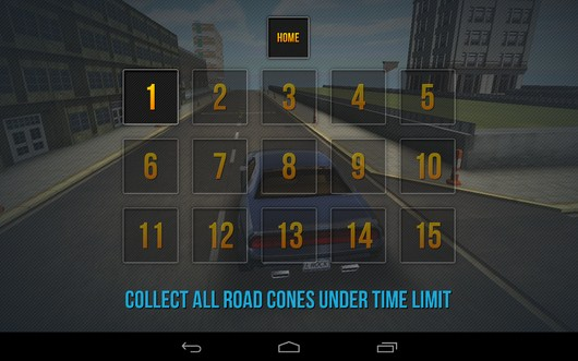 Задания аркадного режима -Car Simulator 3D для Android