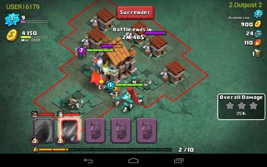 Атака вражесского поселения - Clash of Lords 2 для Android