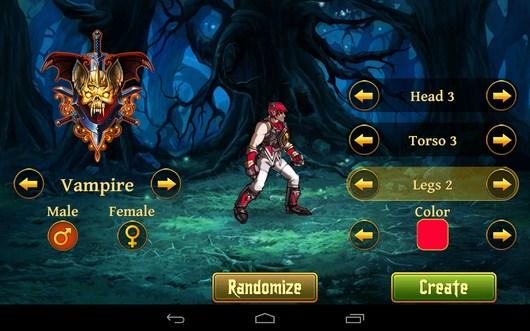 Выбор персонажа - Clash of the Damned для Android