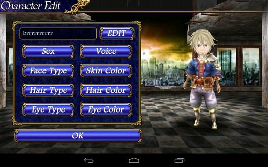 Настройка персонажа - Cross Horizon для Android