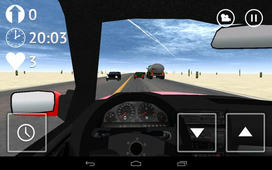 Начало езды - Desert Traffic Racer для Android