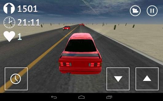 Смена вида камеры - Desert Traffic Racer для Android