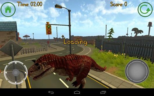 Загрузка городка - Dino Simulator для Android