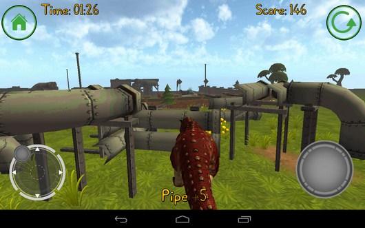 Разносим трубы - Dino Simulator для Android