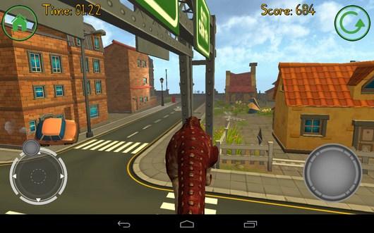 Уперлись в преграду - Dino Simulator для Android