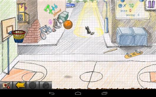 Первый бросок - Doodle Basketball 2 для Android