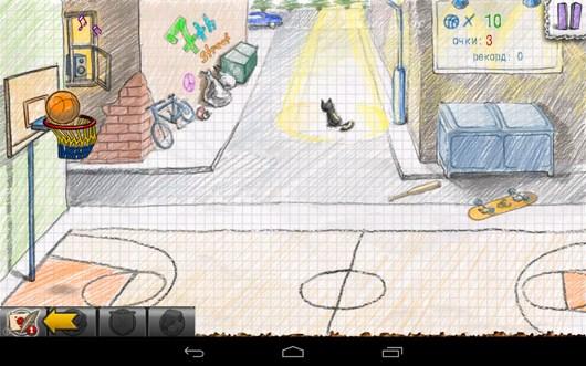 Мяч в корзине - Doodle Basketball 2 для Android