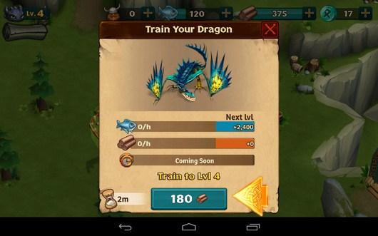 Улучшение - Dragons: Rise of Berk для Android