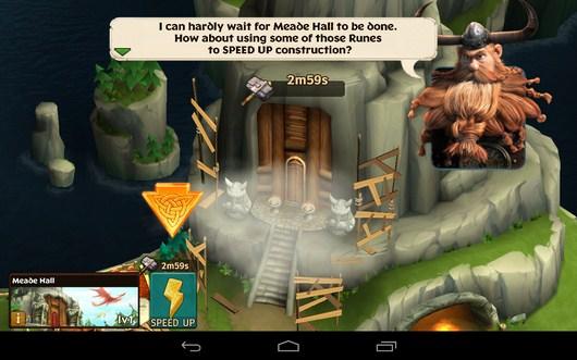 Улучшение здания - Dragons: Rise of Berk для Android