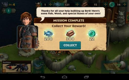 Миссия выполнена - Dragons: Rise of Berk для Android