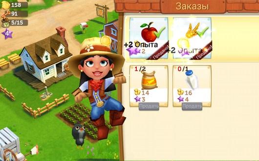 Радость девочки - FarmVille2 Country Escape для Android