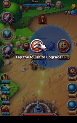 Апгрейд башни - Field Defender для Android