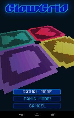 Выбор режима - GlowGrid для Android