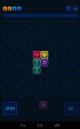 Начало игры - GlowGrid для Android
