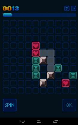 Уничтожение квадратов одного цвета - GlowGrid для Android