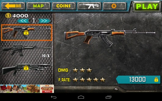 Оружие - Gun Strike 3D для Android